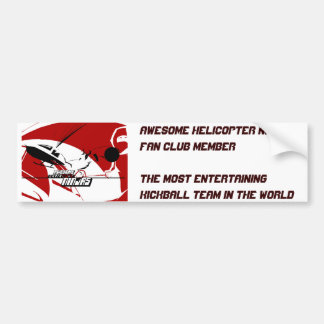 素晴らしいヘリコプターの忍者のファン・クラブのバンパーステッカー バンパーステッカー