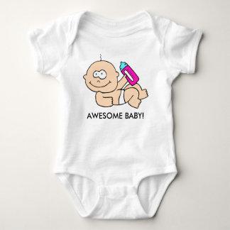 """""""素晴らしいベビー""""の新生児の女の子の乳児のTシャツ ベビーボディスーツ"""