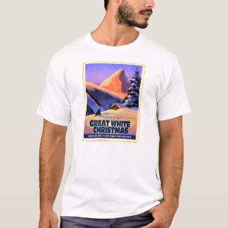 素晴らしいホワイトクリスマス場面 Tシャツ