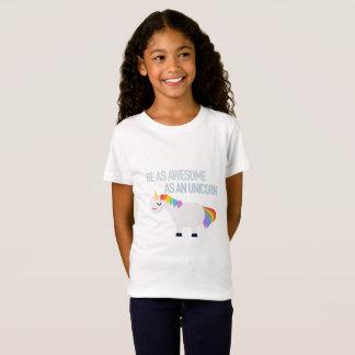 素晴らしいユニコーンの女の子の素晴らしいジャージーのTシャツ Tシャツ