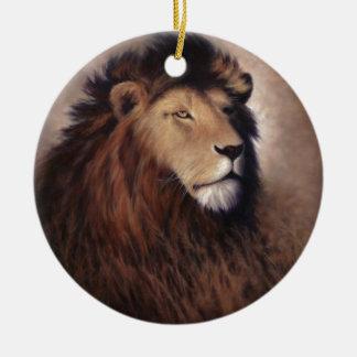 素晴らしいライオン セラミックオーナメント
