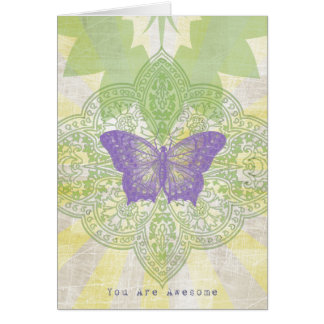 素晴らしいラベンダーまたは賢人の蝶空白のなカード カード