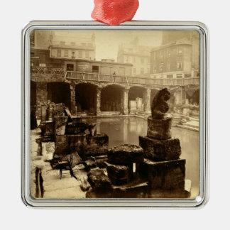 素晴らしいローマのBath、Bath (b/wの写真) メタルオーナメント