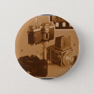 素晴らしいヴィンテージのカメラのコラージュの画像 5.7CM 丸型バッジ