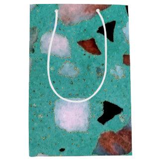 素晴らしいヴィンテージの抽象芸術の大理石の質のイメージ ミディアムペーパーバッグ