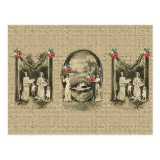 素晴らしいヴィンテージの「お母さん」の母および子供は印刷します ポストカード