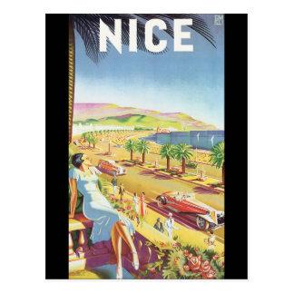 素晴らしいヴィンテージ旅行ポスター ポストカード