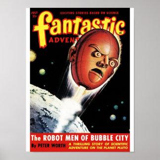 素晴らしい冒険-泡都市のロボット人 ポスター