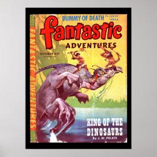 素晴らしい冒険v07 n04 (1945年10月)の_Pulpの芸術 ポスター