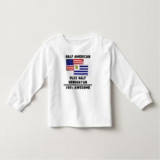 素晴らしい半分のウルグアイ人100%年 トドラーTシャツ