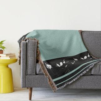 素晴らしい及びSnowy白鷺の鳥の野性生物動物の沼地 毛布