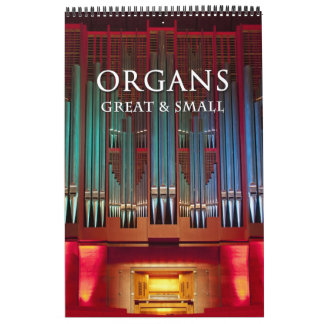 素晴らしい器官および小さいカレンダーの垂直 カレンダー