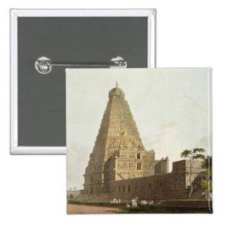 素晴らしい塔、Tanjoreの「東洋からのプレートXXIV 5.1cm 正方形バッジ