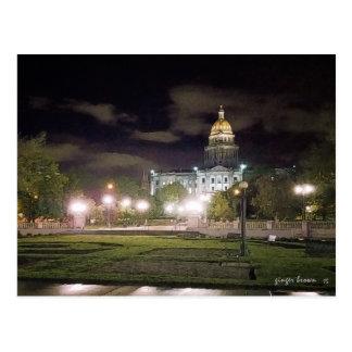 素晴らしい夜眺め、コロラド州の州都Bldg ポストカード