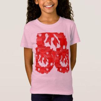 素晴らしい女の子の大石柱のスポーツ・ウェアの罰金のジャージーのTシャツ Tシャツ