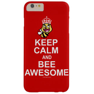 素晴らしい平静および蜂を飼って下さい BARELY THERE iPhone 6 PLUS ケース