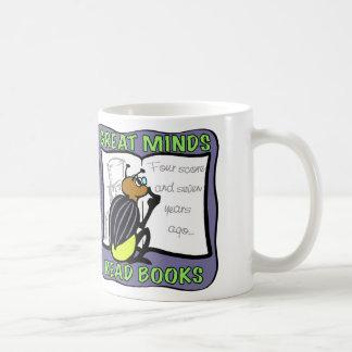 素晴らしい心の読書の本 コーヒーマグカップ