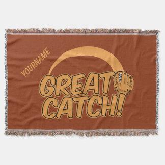 素晴らしい捕獲物! カスタムな投球毛布 毛布