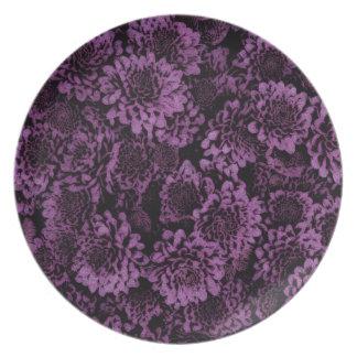 素晴らしい揺らめく花の紫色(i) プレート