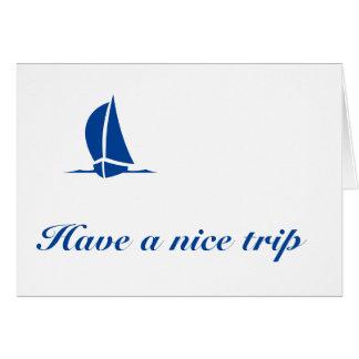 素晴らしい旅行を持って下さい カード