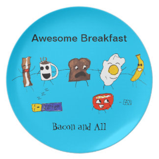 素晴らしい朝食、ベーコンおよびすべて プレート
