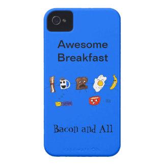 素晴らしい朝食、ベーコンおよびすべて Case-Mate iPhone 4 ケース
