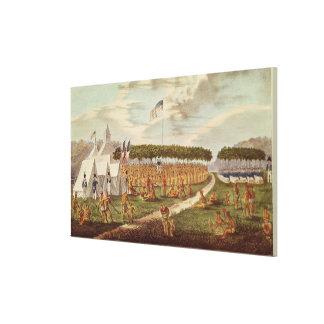 素晴らしい条約の眺めは草原DUで握りました キャンバスプリント