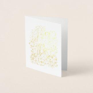素晴らしい森林花のきのこ 箔カード