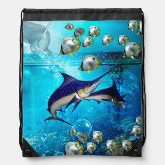 素晴らしい水中世界 ナップサック