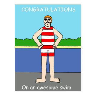 素晴らしい水泳のお祝い ポストカード