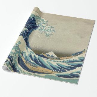 素晴らしい波Mt富士 ラッピングペーパー