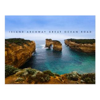 素晴らしい海の道の島のアーチ道、オーストラリア ポストカード