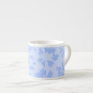 素晴らしい淡いブルーの花パターン エスプレッソカップ