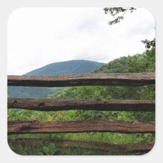 素晴らしい煙山の国立公園 スクエアシール