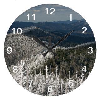 素晴らしい煙山の国立公園 ラージ壁時計