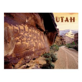 素晴らしい狩りの岩石彫刻、9マイル渓谷、UT ポストカード