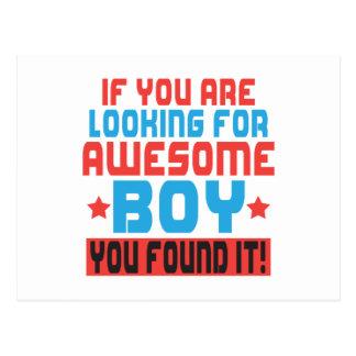 素晴らしい男の子を捜せば、it.pを見つけました ポストカード