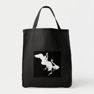 素晴らしい白鷺のダンスのバッグ トートバッグ