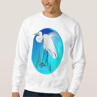 素晴らしい白鷺の楕円形のワイシャツ スウェットシャツ