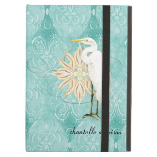 素晴らしい白鷺の沿岸海岸のビーチの鳥の航海のな芸術 iPad AIRケース