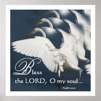 素晴らしい白鷺の芸術の賛美歌103のプリント ポスター
