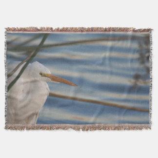 素晴らしい白鷺の鳥のブランケット スローブランケット