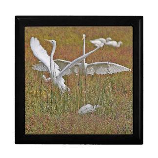 素晴らしい白鷺の鳥の野性生物の動物のギフト用の箱 ギフトボックス