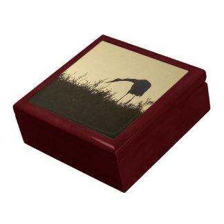 素晴らしい白鷺の鳥の野性生物の動物の日の出のギフト用の箱 ギフトボックス