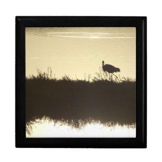 素晴らしい白鷺の鳥の野性生物の動物の沼地のギフト用の箱 ギフトボックス