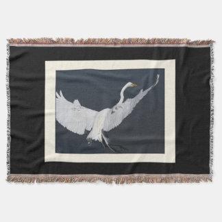 素晴らしい白鷺の鳥の野性生物動物のブランケット スローブランケット