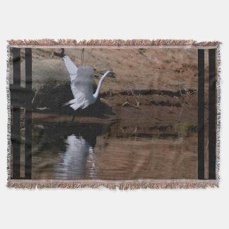 素晴らしい白鷺の鳥の野性生物animal湖 スローブランケット
