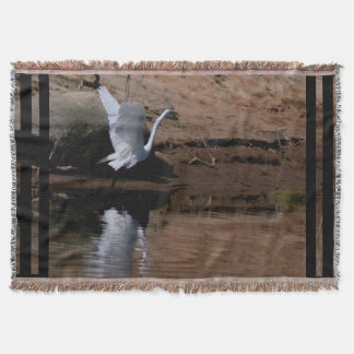素晴らしい白鷺の鳥の野性生物animal湖 ブランケット