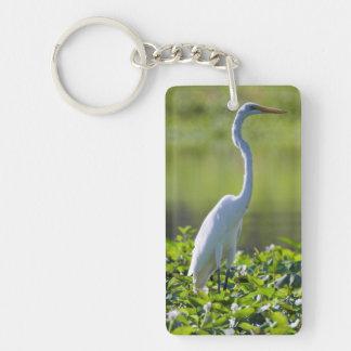 素晴らしい白鷺、Iquitos、Maynas、ペルー キーホルダー