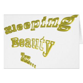 素晴らしい眠れる森の美女ZZZの金ゴールド3DD カード